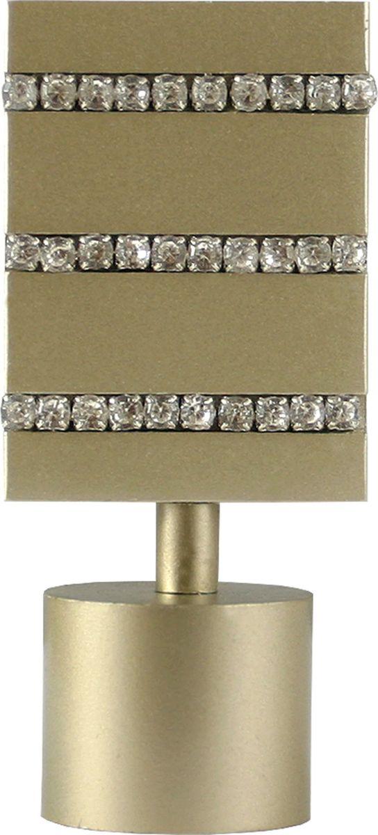 Наконечник для карниза Уют Домино 26.21ТО.3221, шампань, диаметр 25 см, 2 шт наконечник для карниза уют цилиндр 2 26 21то 0221 шампань диаметр 25 см 2 шт