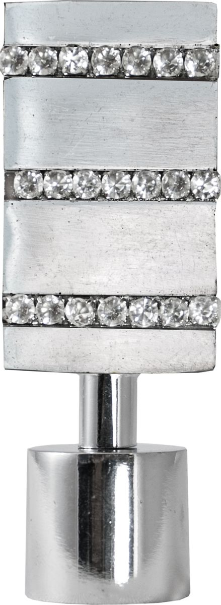 """Наконечник для карниза Уют """"Домино"""" 26.21ТО.3209, хром, диаметр 25 см, 2 шт"""