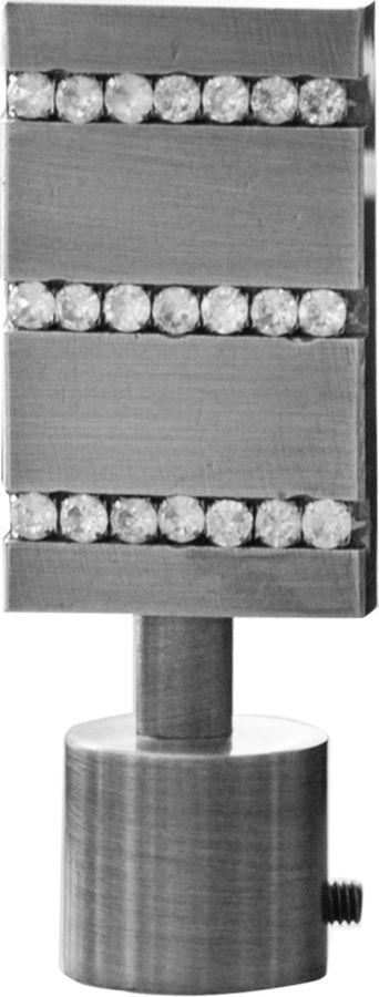 """Наконечник для карниза Уют """"Домино"""" 26.21ТО.3208, сталь, диаметр 25 см, 2 шт"""