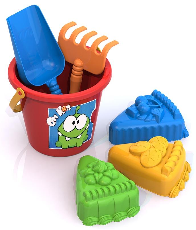 Набор для песка Нордпласт Ам Ням №2, 431821, красный, голубой, желтый thinkwaytoys набор для песка ам ням 2 431821 thinkwaytoys