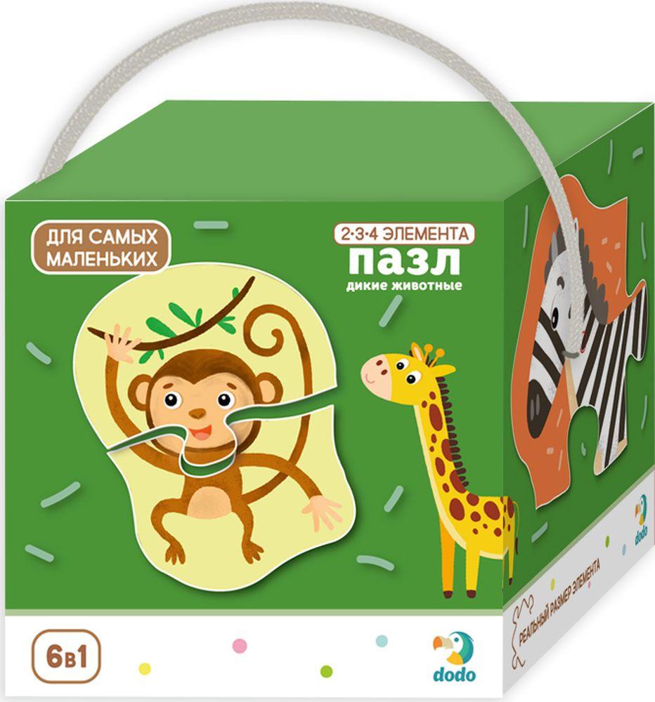 Пазл для малышей Dodo Дикие животные, R300153 набор пазлов trefl дикие животные