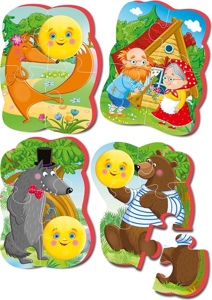 Мягкий пазл Vladi Toys Baby Puzzle Сказки, колобок, VT1106-62 мягкий пазл vladi toys baby puzzle сказки колобок vt1106 62