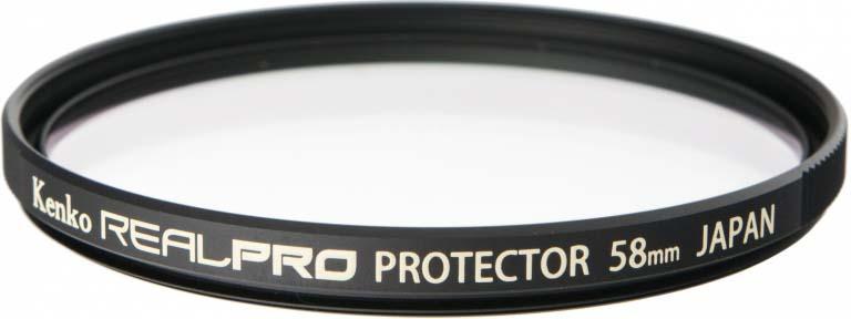 Светофильтр Kenko 58S Realpro Protector, 225877, 58 мм, защитный светофильтр kenko 55s realpro nd4 225576 55 мм нейтрально серый