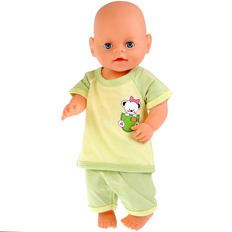 Одежда для кукол Карапуз Медвежонок, 267422, светло-зеленый, 40-42см