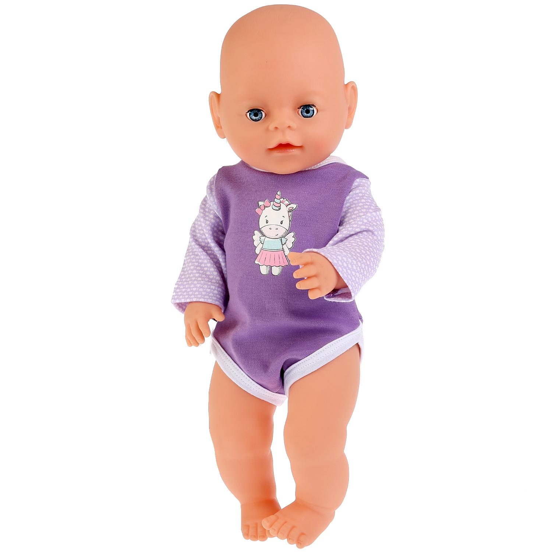 """Одежда для кукол Карапуз """"Единорог"""", 267429, сиреневый, 40-42 см"""