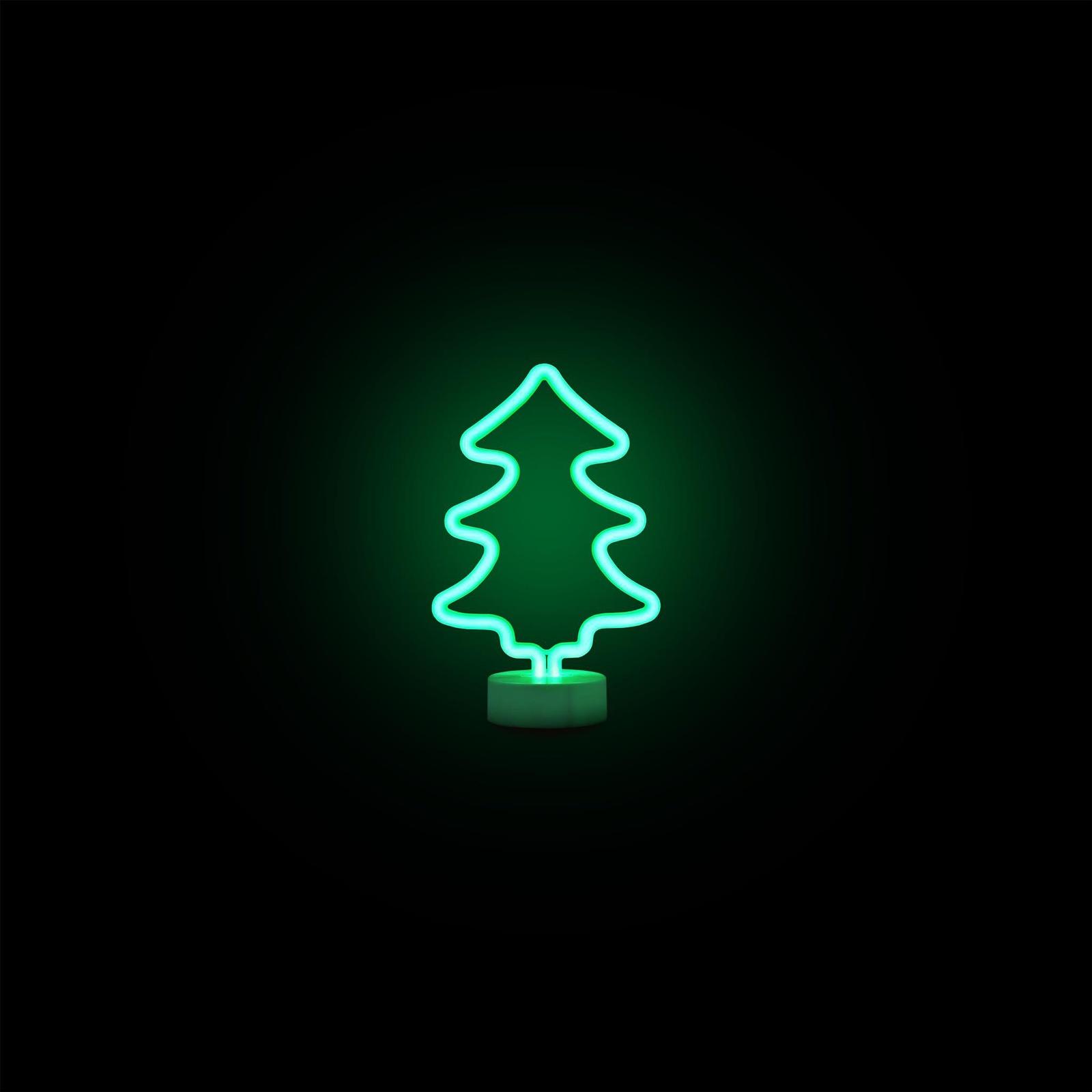 Светодиодный настольный неоновый светильник APEYRON electrics 12-65 Елка, цвет: зеленый12-65Настольный неоновый светильник в форме ёлочки станет отличным украшением вашего интерьера не только на Новый год. Светит ровным, мягким зелёным светом, не мигает и не раздражает глаза. Светодиодные светильники не нагреваются, а значит, пожаробезопасны, что позволяет использовать их в детских комнатах. Светильник работает от трёх пальчиковых батареек (в комплект не входят). Мощность 3 Вт.