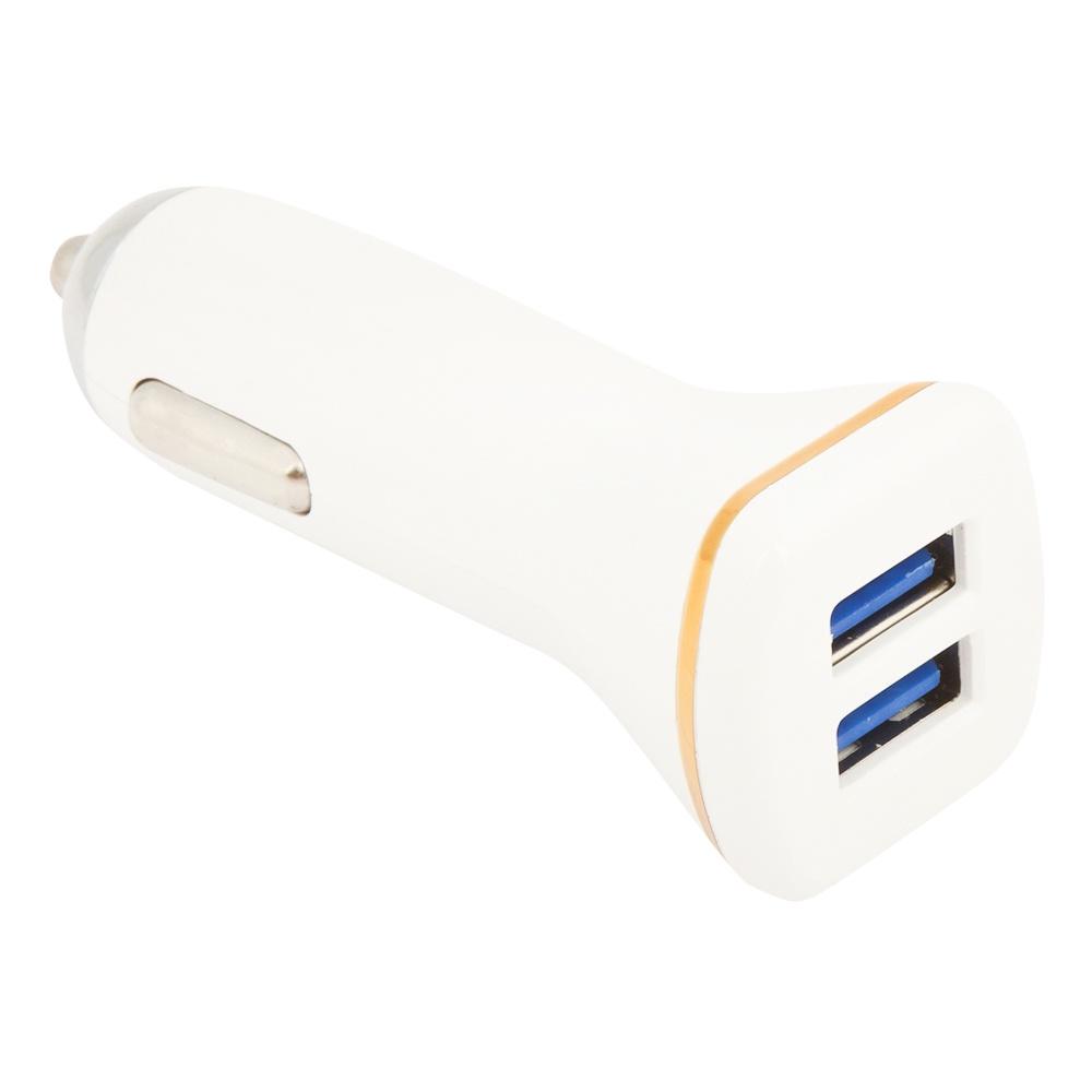 Автомобильное зарядное устройство Ldnio 2 USB 2,1А + кабель Apple 8 pin DL-219, White устройство зарядное автомобильное ldnio dl c12 2 1 а usb apple 8 pin