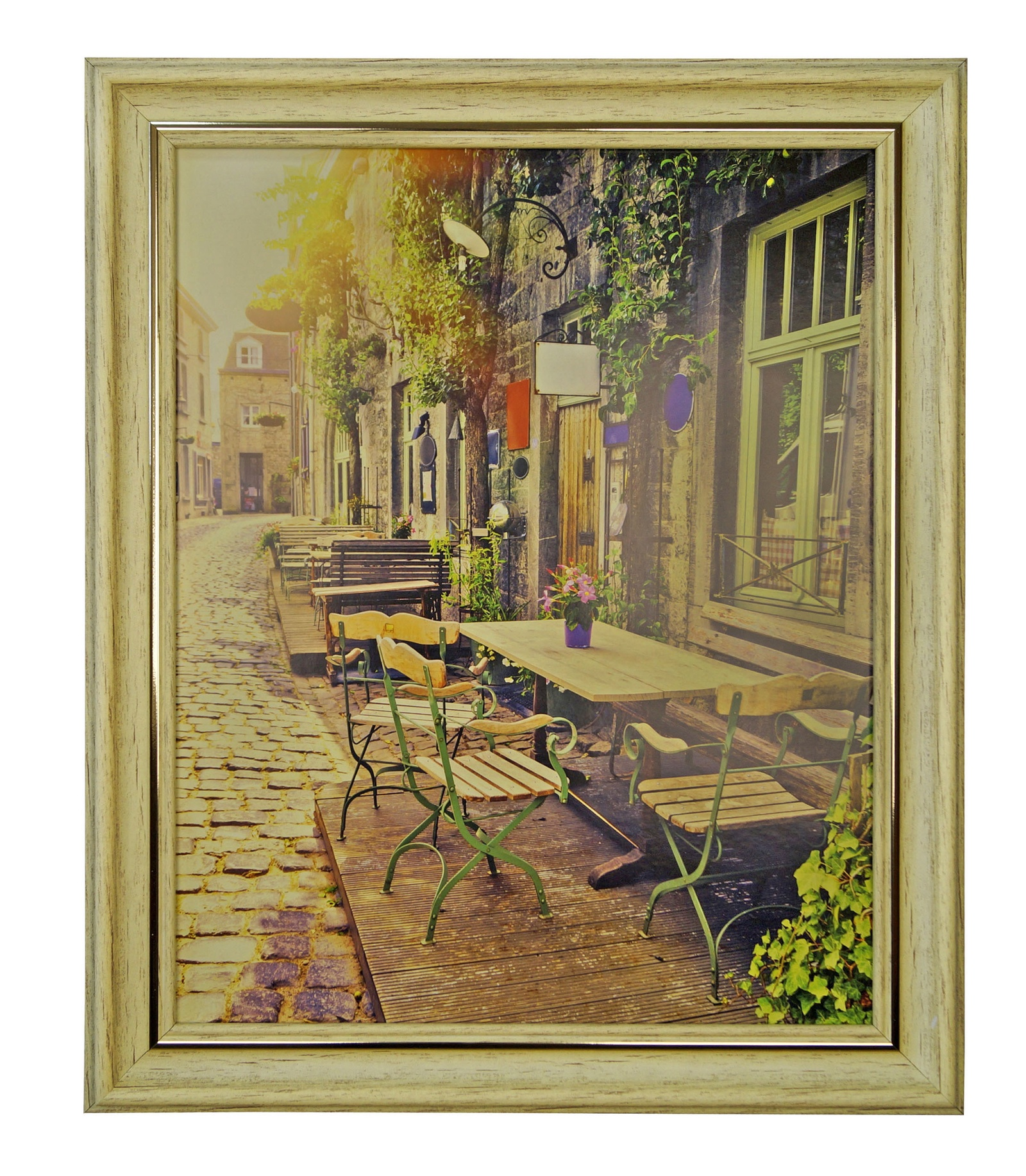 """Картина Мастер Рио """"Уличное кафе"""", бежевый"""
