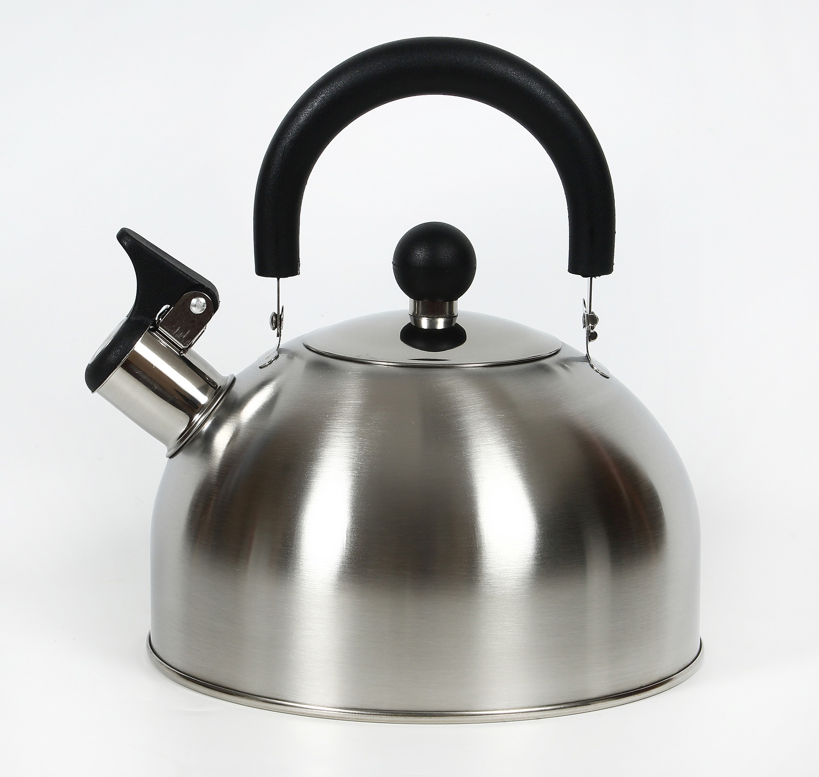 Чайник КС со свистком, 333-RY-7, металлический, черный, 2.5 л цена
