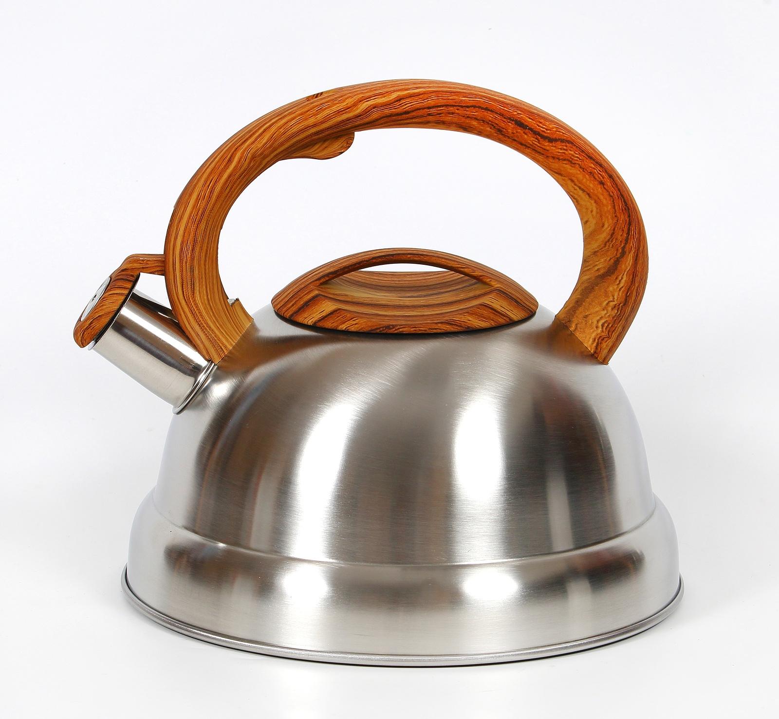 Чайник КС со свистком, 333-RY-9, металлический, коричневый, 3 л чайник кмз 3 5 л коричневый