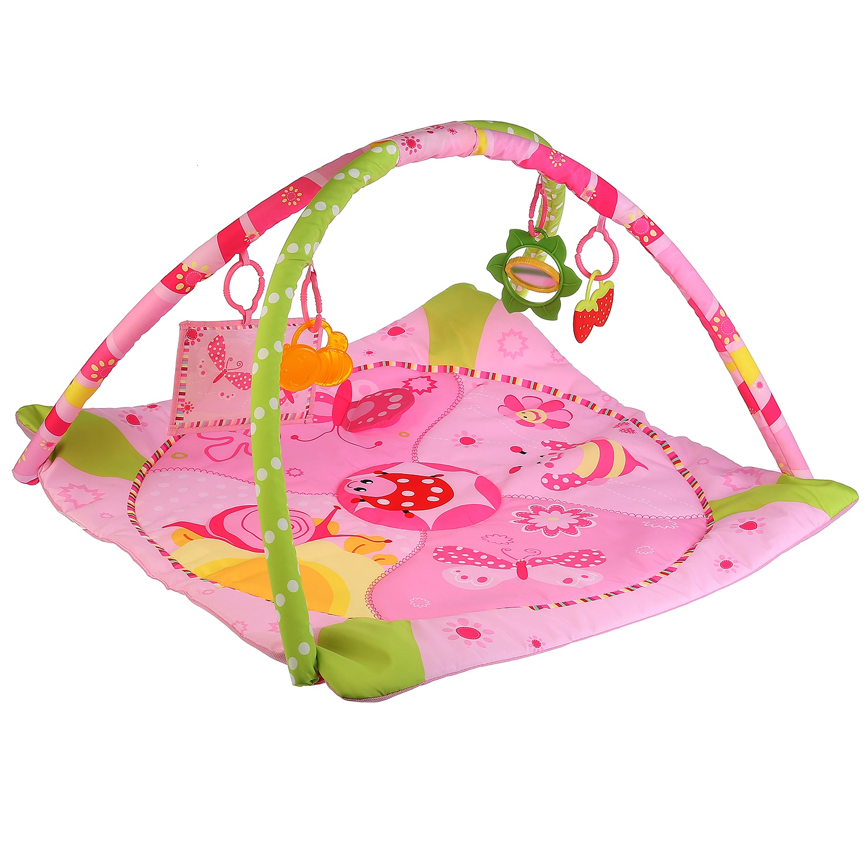 Развивающий коврик УМКА Божья коровка, 258613, розовый развивающие игрушки умка развивающий коврик умка а барто