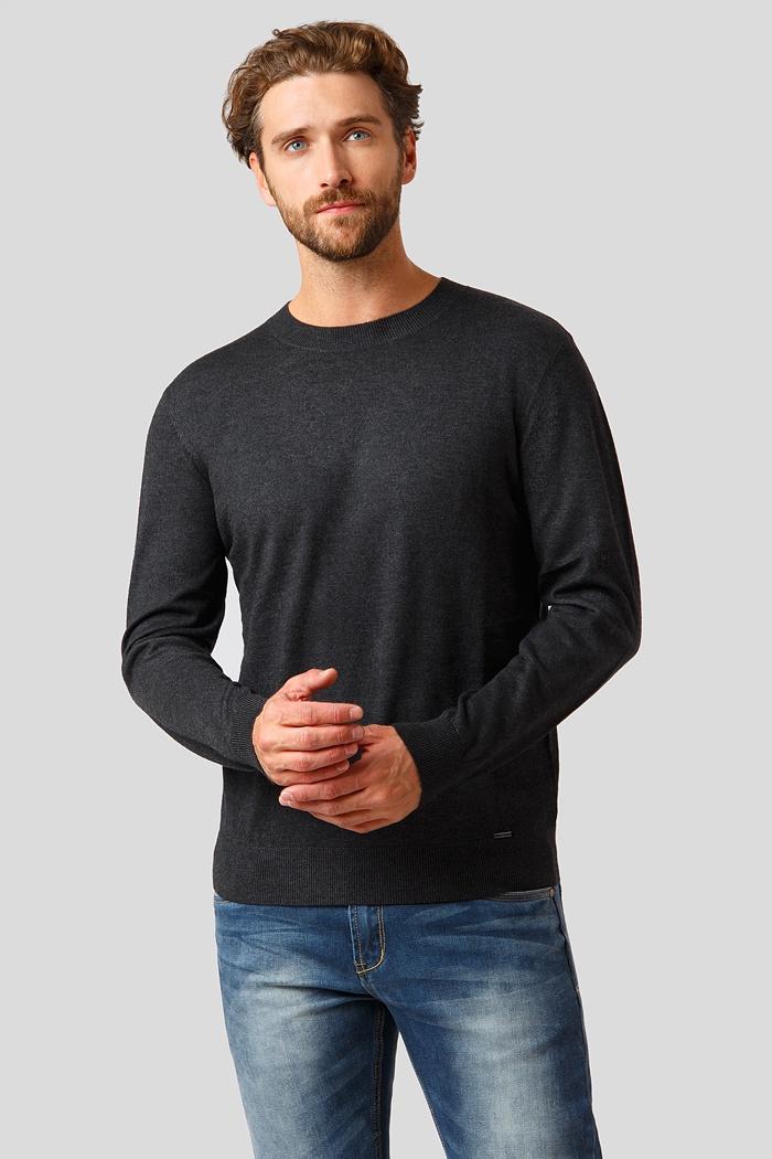 Джемпер Finn Flare пуловер с круглым вырезом из тонкого трикотажа из шерсти и кашемира axel