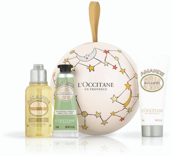 Набор косметики для гигиены L`Occitane en Provence Миндальное дерево: крем для рук 10 мл, молочко 30 мл, масло для душа 35 мл бальзам d'oliva для рук оливковое масло и миндальное молочко 100 мл