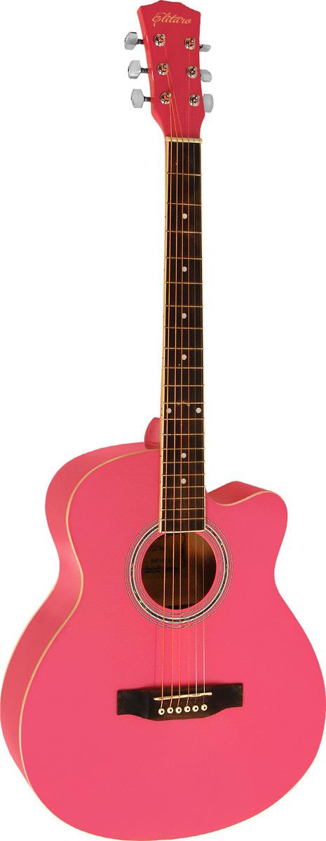 Elitaro E4010C, Pink акустическая гитара цена