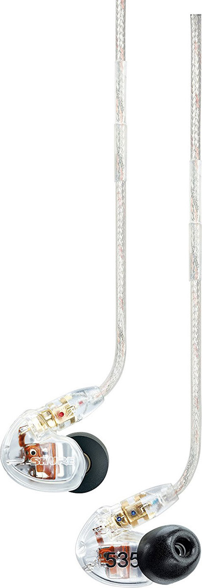 Наушники Shure SE535-CL, прозрачный вставные наушники philips she 8100 bl 00