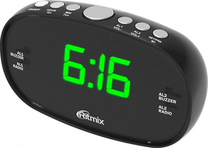 лучшая цена Радио будильник Ritmix RRC-616, black