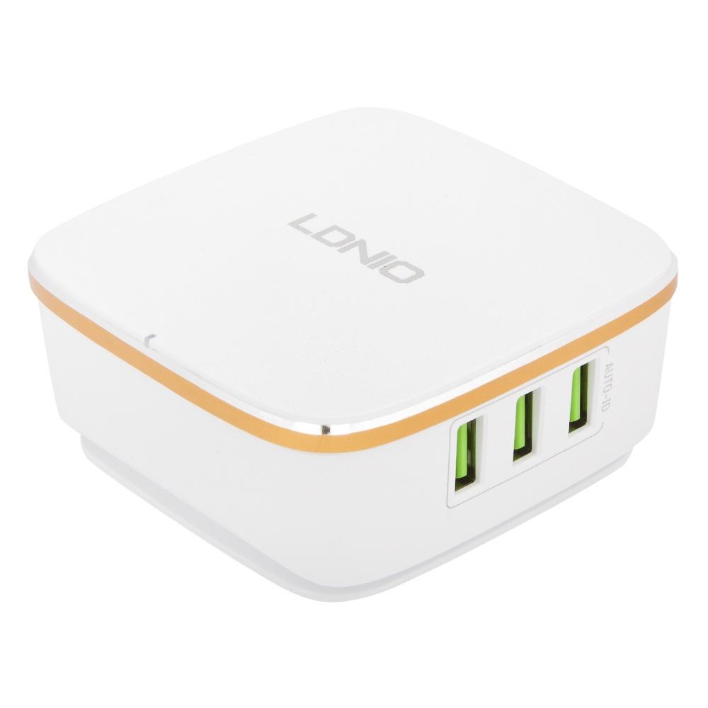 Сетевое зарядное устройство Ldnio 6 USB 7А A6704, 0L-00034129, White сетевое зарядное устройство ldnio hoco c11 smart dual usb charger set usb 1 0a 0l 00037574 white