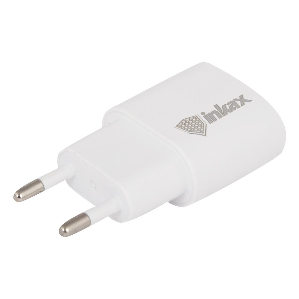 Сетевое зарядное устройство Inkax CD-08 USB 1A + кабель Apple 8 pin, 0L-00038525, White зарядное устройство зарядное устройство сетевое qtek s200 htc p3300 ainy 1a