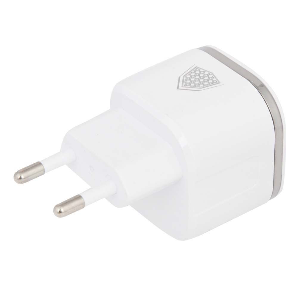 Сетевое зарядное устройство Inkax CD-20 Overall 2 USB 2,4A + кабель Apple 8 pin, 0L-00040093, White