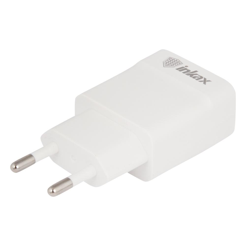 Сетевое зарядное устройство Inkax CD-36 USB 1A, 0L-00038526, White зарядное устройство зарядное устройство сетевое qtek s200 htc p3300 ainy 1a
