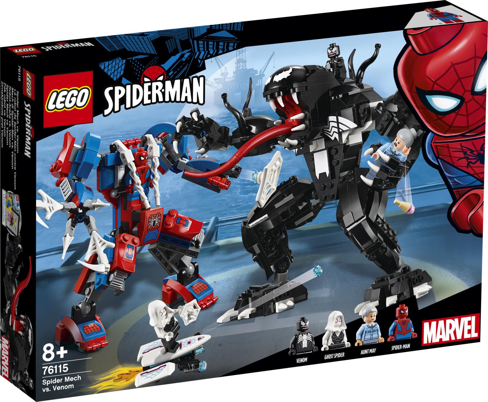 LEGO Super Heroes Marvel 76115 Человек-паук против Венома Конструктор конструктор lego решающий бой человека паука против скорпиона 125 элементов 10754