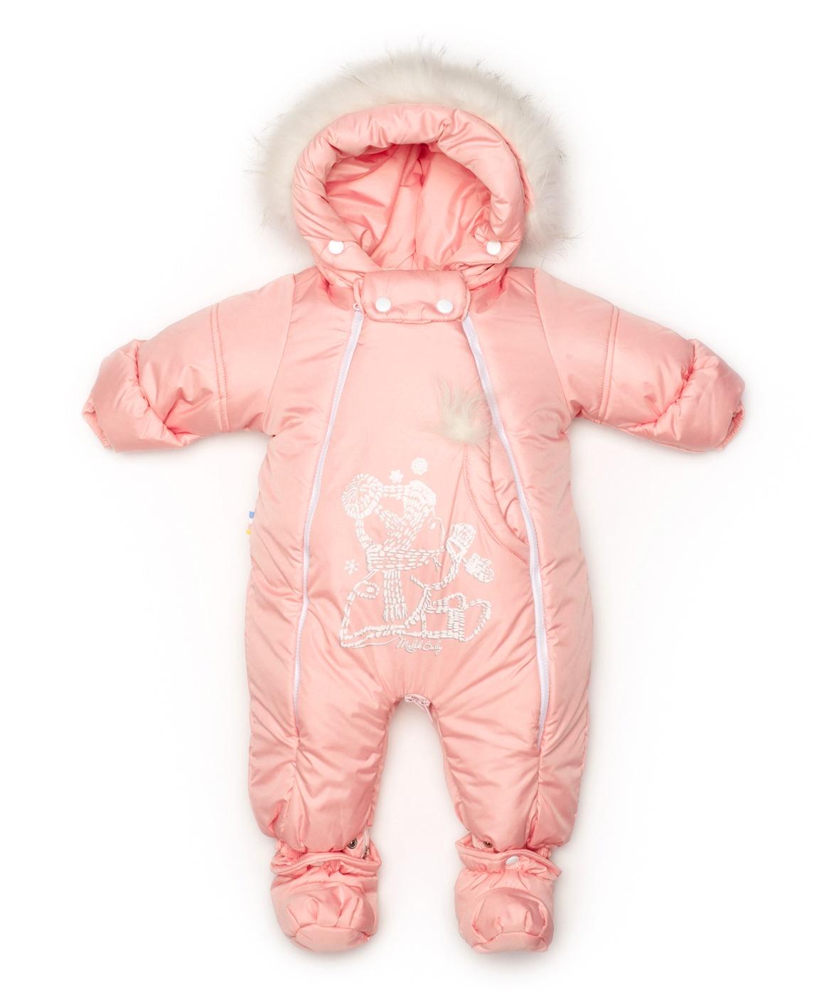Комбинезон Malek-Baby 163шм/2 Лососсевый 74, розовый 74 размер163шм/2 Лососсевый 74В этом стильном функциональном трансформере ваш малыш никогда не замерзнет и будет прекрасно себя чувствовать. Главная особенность данной модели - это трансформация из комбинезона в конверт при помощи молнии между ножек и крепких кнопок, на которые крепятся пинетки. Если соединить молнии и кнопки в другом положении, то комбинезон превратится в конверт с непродуваемым дном. В зависимости от возраста вашего малыша, погодных условий и ваших предпочтений, вы можете использовать изделие как конверт либо как комбинезон. Он идеально подходит для морозной русской зимы. Оптимальный температурный режим для носки - от +5°С до -25°С. Мы утеплили его отстегивающейся подкладкой из овечьей шерсти. При необходимости вы можете постирать комбинезон отдельно от подкладки и наоборот. А когда потеплеет, вы можете снять ее совсем, и комбинезон подойдет для весенней погоды. На рукавах у трансформера вы можете заметить отвороты, которые помогут держать в тепле маленькие ручки ребенка. Плотно прилегающий к голове капюшон защитит от сильного ветра за счет вшитой утягивающей резинки. Мы спроектировали капюшон таким образом, чтобы он не мешал ему разглядывать мир вокруг себя. В комлект идут отстегивающиеся пинетки, которые не будут выделяться из общего стиля и будут греть ножки, т.к. они также утеплены овечьей шерстью. С помощью удлиненной молнии вдоль всего трансформера вы сможете легко одеть и раздеть ребенка. Мы старались сделать этот трансформер максимально функциональным и красивым для вашего ребен...