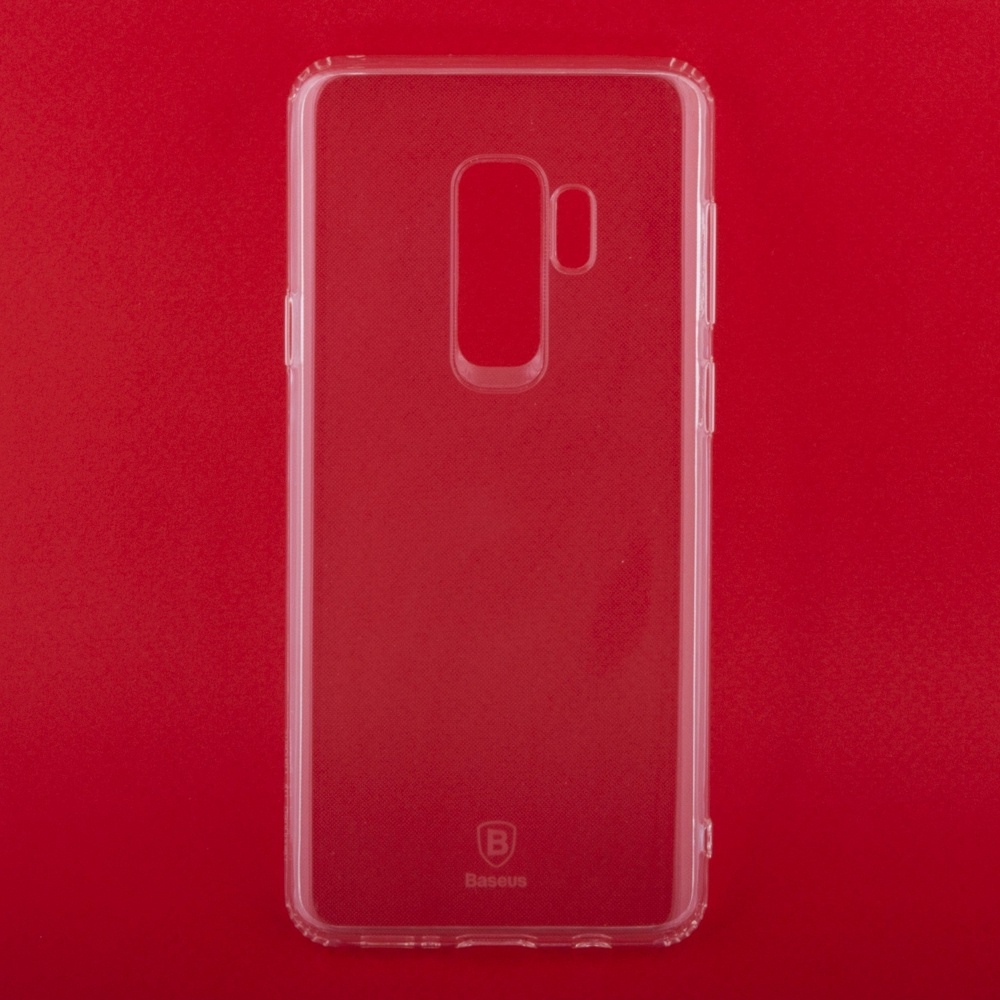Чехол Baseus Simple ARSAS9P-02 для Samsung Galaxy S9 Plus, 0L-00037775, прозрачный чехол baseus simple arsas9 02 для samsung galaxy s9 0l 00037774 прозрачный