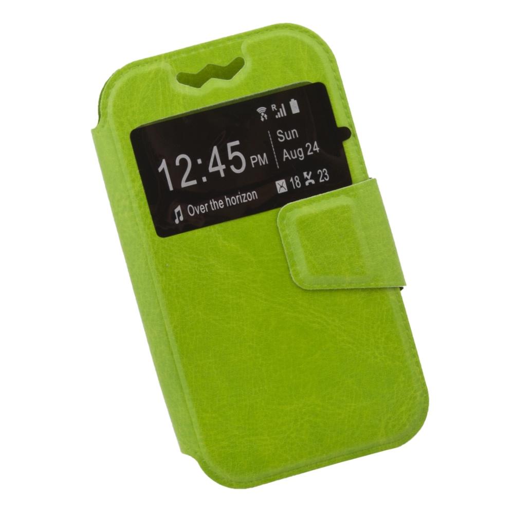 Чехол Liberty Project раскладной универсальный для телефонов размером L 12х5.6 см, 0L-00002570, зеленый
