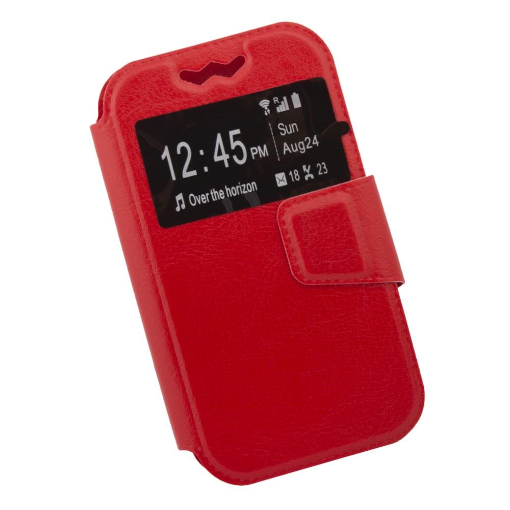 Чехол Liberty Project раскладной универсальный для телефонов размером L 12х5.6 см, 0L-00002571, красный