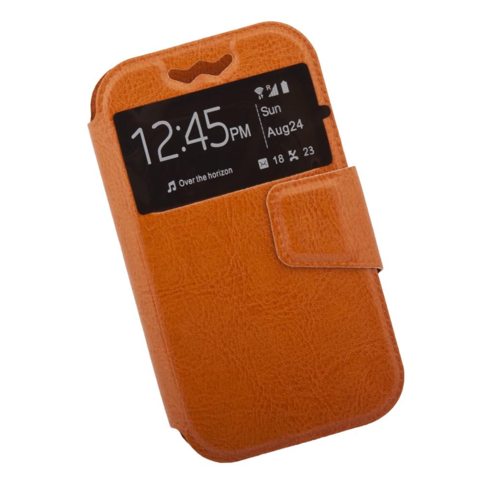 Чехол Liberty Project раскладной универсальный для телефонов размером L 12х5.6 см, 0L-00002572, оранжевый
