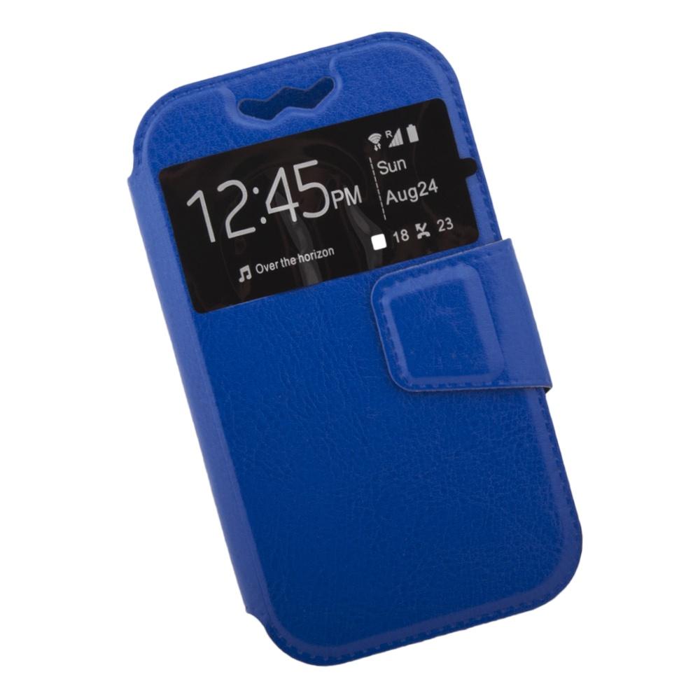 Чехол Liberty Project раскладной универсальный для телефонов размером L 12х5.6 см, 0L-00002573, синий