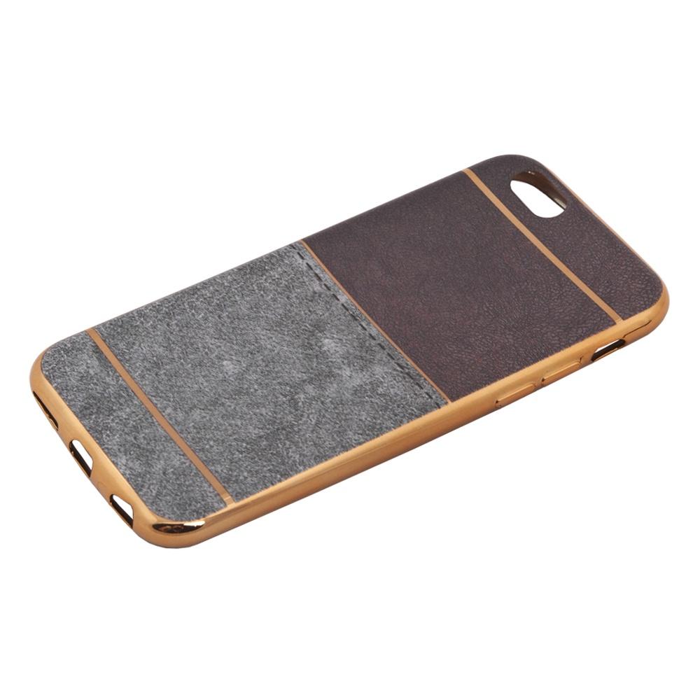 Чехол Liberty Project для iPhone 6/6s, 0L-00031827, коричневый, светло-серый цена и фото