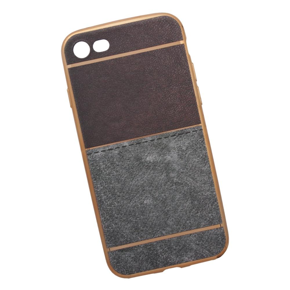 Чехол Liberty Project для iPhone 8/7, 0L-00031828, коричневый, светло-серый aluminum project box splitted enclosure 25x25x80mm diy for pcb electronics enclosure new wholesale