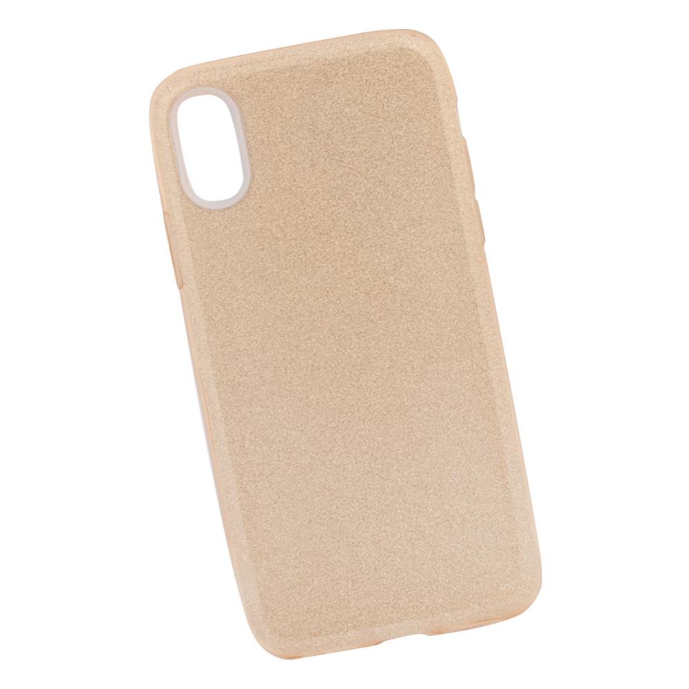 Чехол силиконовый LIBERTY PROJECT Блёстки, для iPhone X, 0L-00039116, золотой мобильный телефон lg x power 2 m 320 золотистый