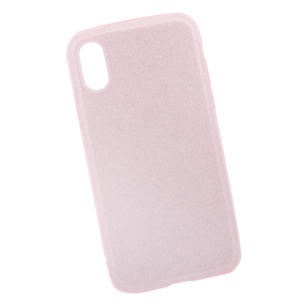 Чехол силиконовый LIBERTY PROJECT Блёстки, для iPhone X, 0L-00039115, розовый мобильный телефон lg x power 2 m 320 золотистый