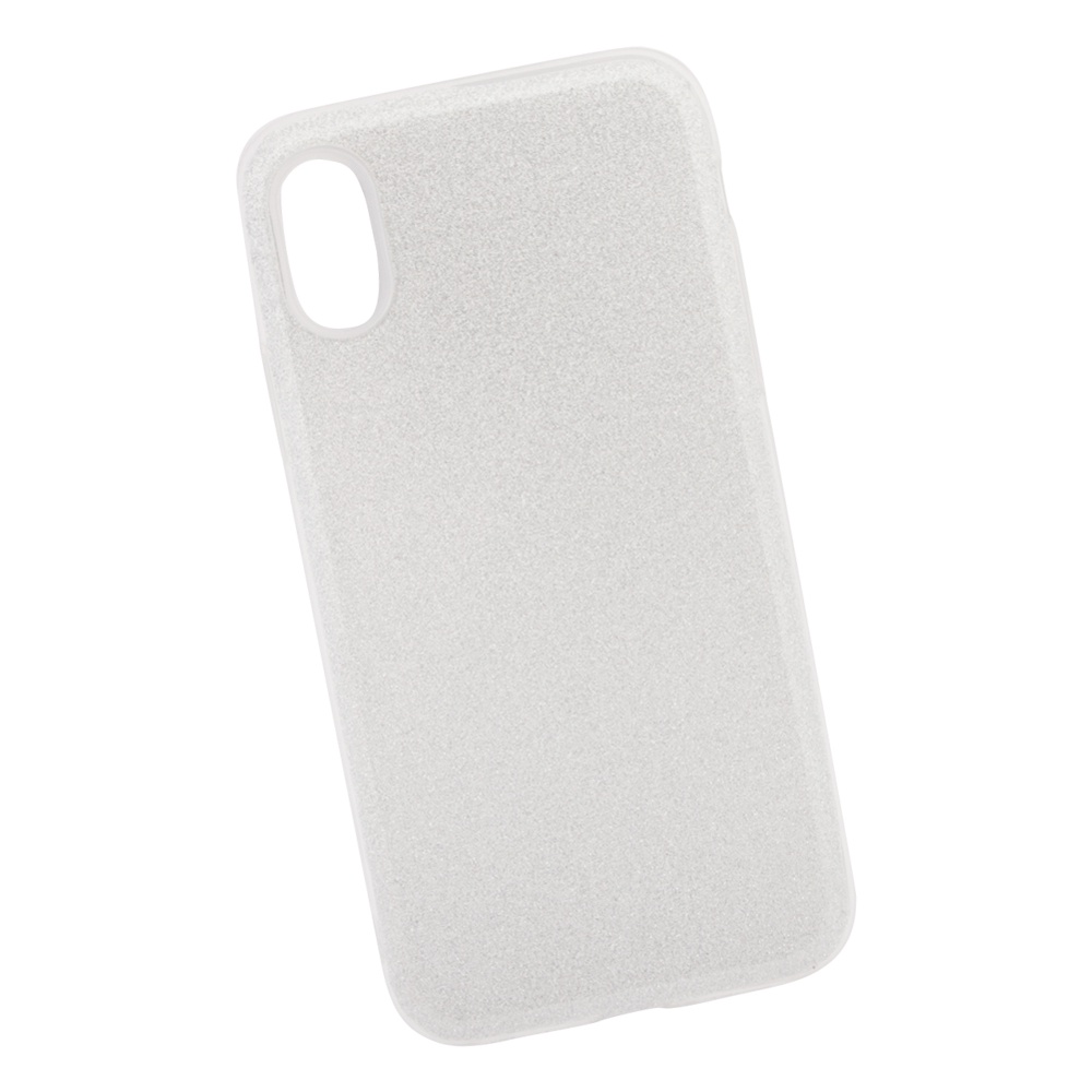Чехол силиконовый LIBERTY PROJECT Блёстки, для iPhone X, 0L-00039114, серебряный мобильный телефон lg x power 2 m 320 золотистый