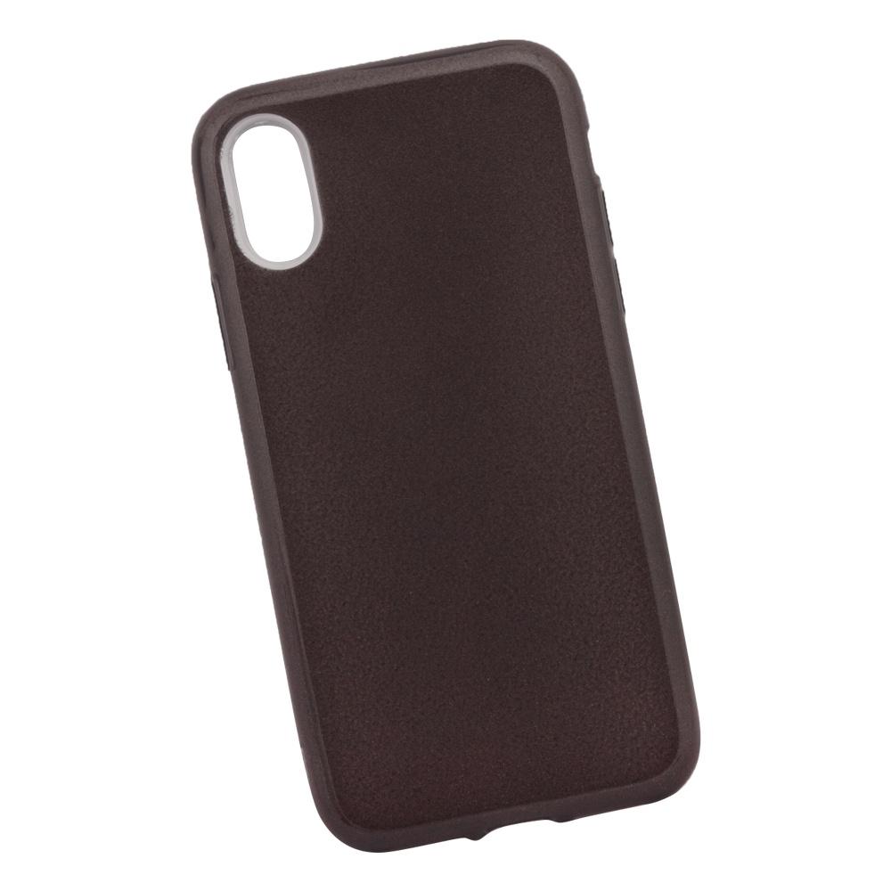 Чехол силиконовый LIBERTY PROJECT Блёстки, для iPhone X, 0L-00039113, черный мобильный телефон lg x power 2 m 320 золотистый