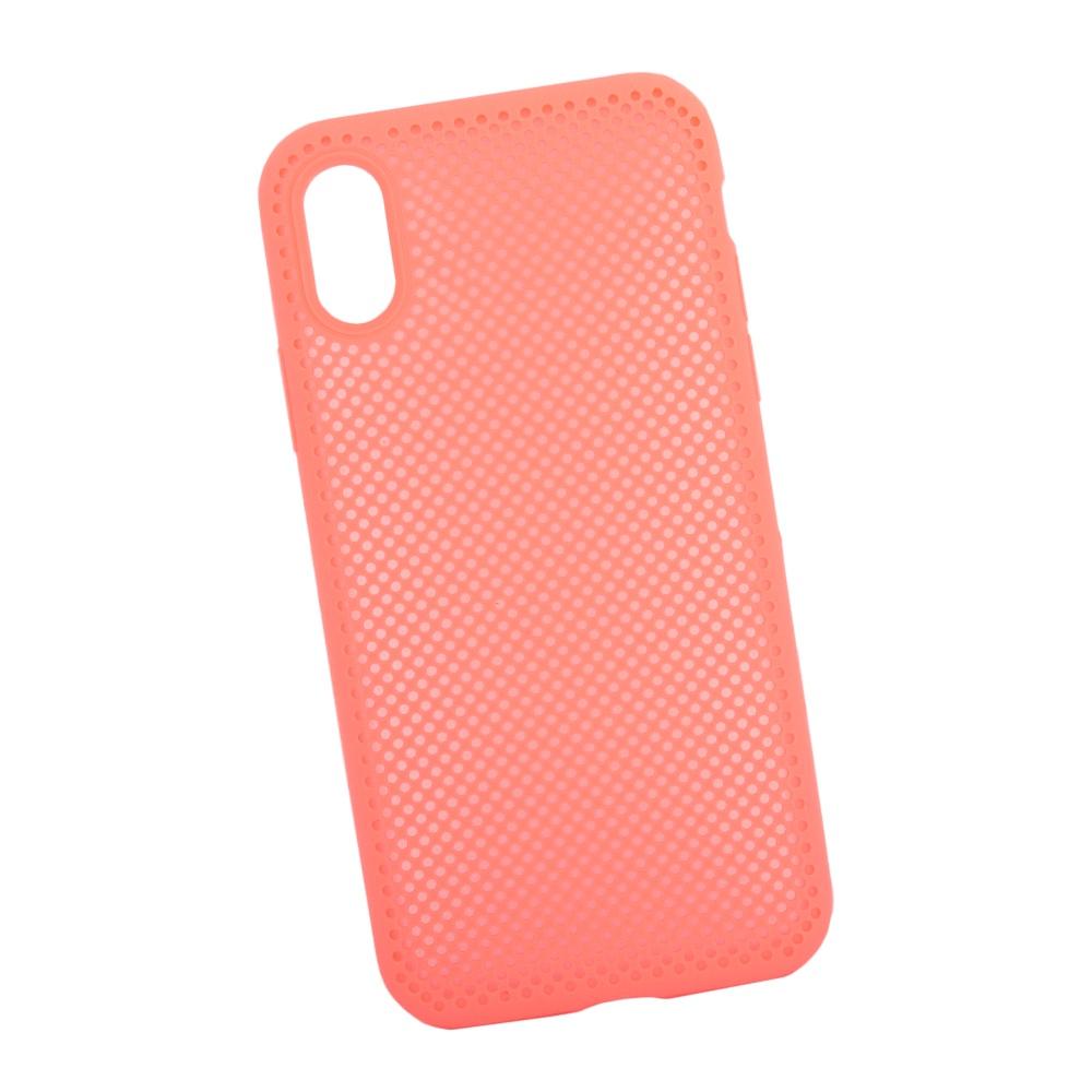 Чехол силиконовый LIBERTY PROJECT, для iPhone X Silicone Dot Case, 0L-00040412, розовый чехол lp для iphone x 0l 00038608 коричневый розовый