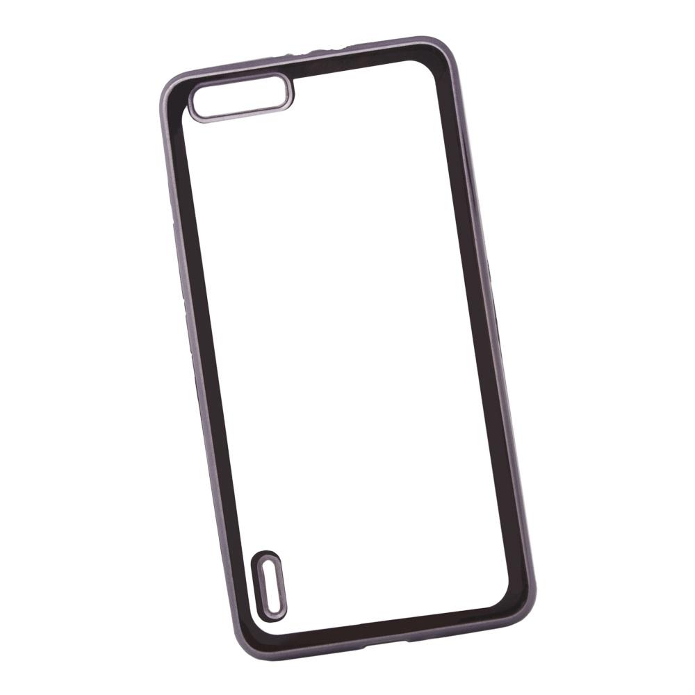 Чехол Liberty Project для Huawei Honor 6 Plus, 0L-00030947, прозрачный, черный