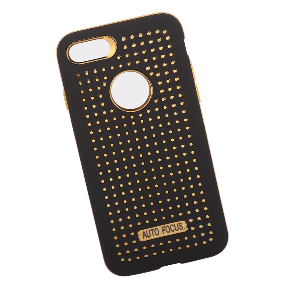 Фото - Чехол LP для iPhone 8/7, 0L-00034774, черный, золотой накладка lp клетка с полосками для iphone 7 золотой 0l 00029551