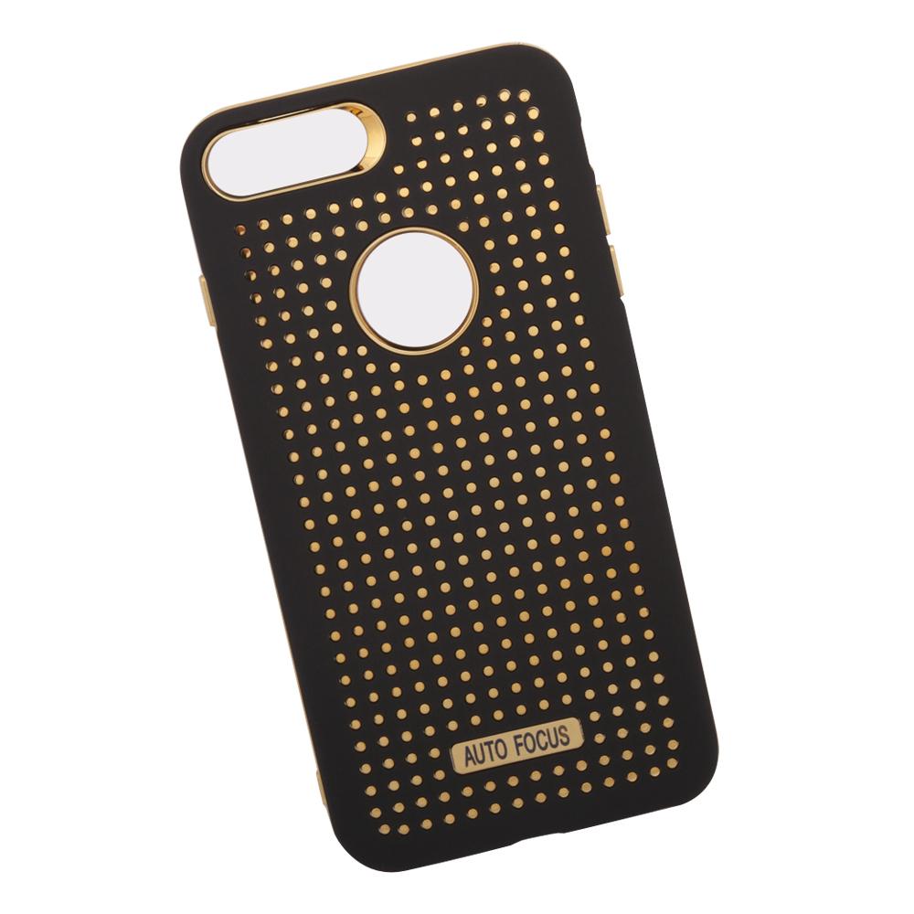Фото - Чехол LP для iPhone 8/7 Plus, 0L-00034775, черный, золотой накладка lp клетка с полосками для iphone 7 золотой 0l 00029551