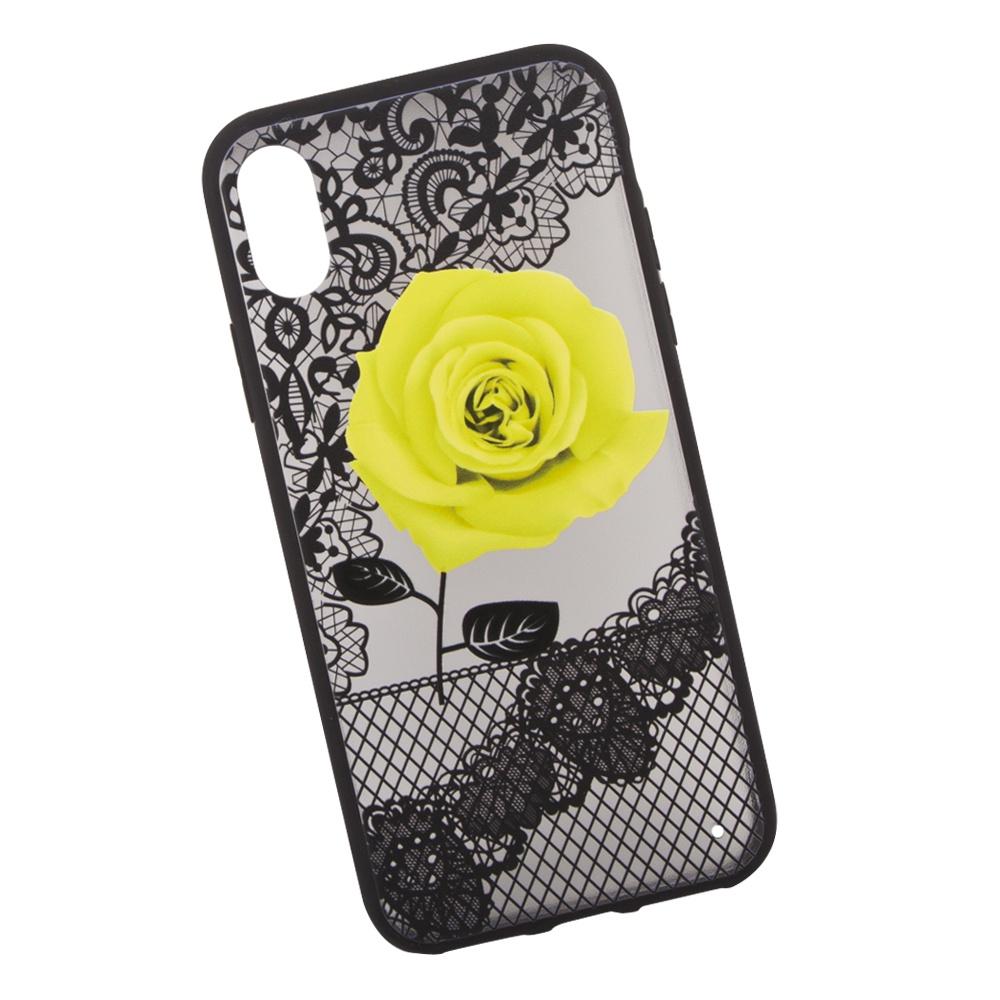 Чехол LP Роза для iPhone X, 0L-00036272, желтый чехол lp для iphone x 0l 00038608 коричневый розовый