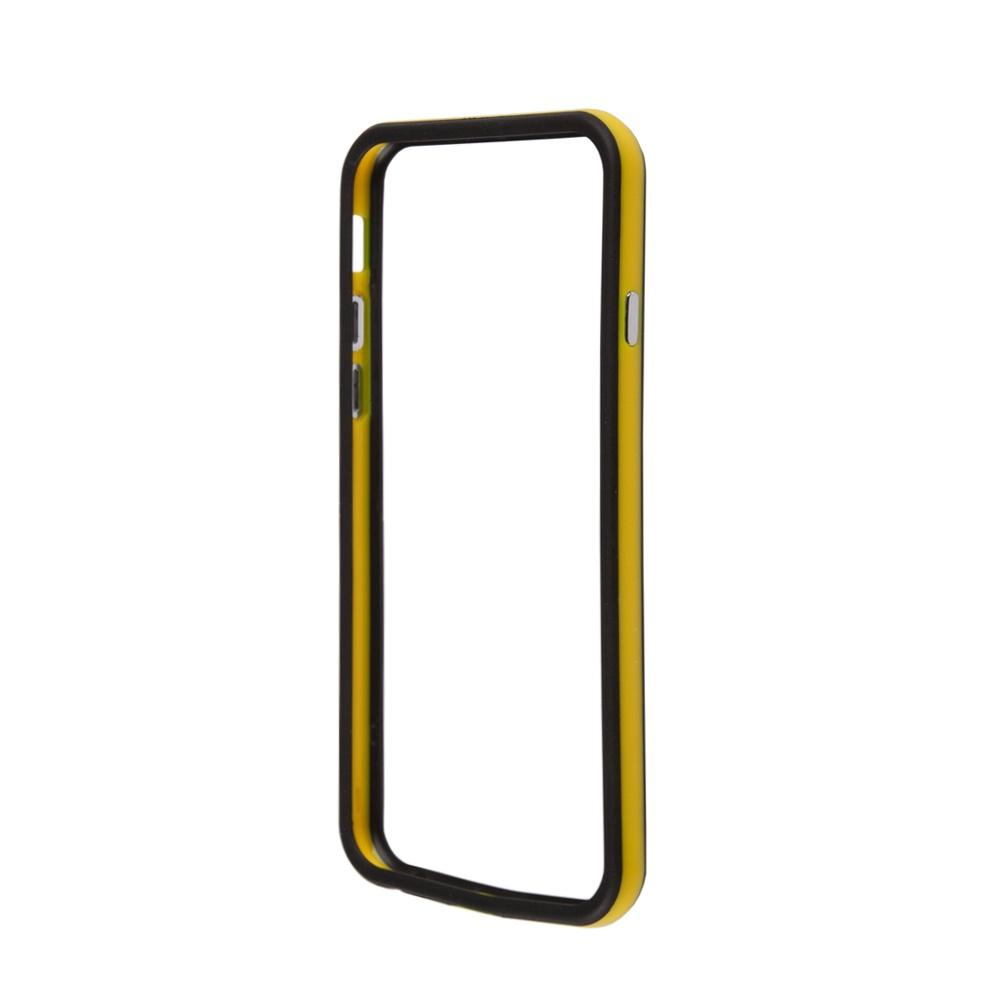 Чехол-накладка LIBERTY PROJECT, Bumpers для iPhone 6/6s, R0006710, желтый, черный toptoys игрушечный мобильный телефон цвет желтый