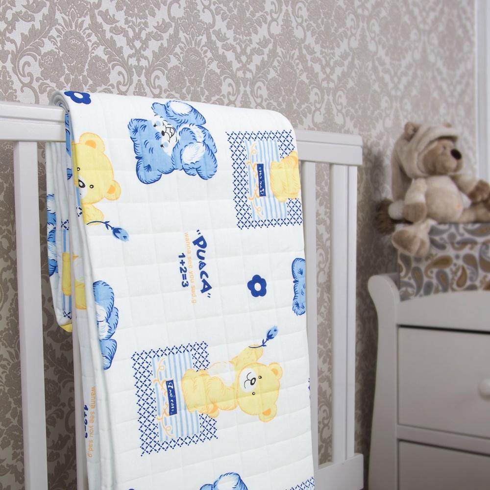 Детское одеяло-покрывало Rich Line Home Decor Медвежата, белый, синий, желтый, 140х200 см покрывало роза размер 140х200 см