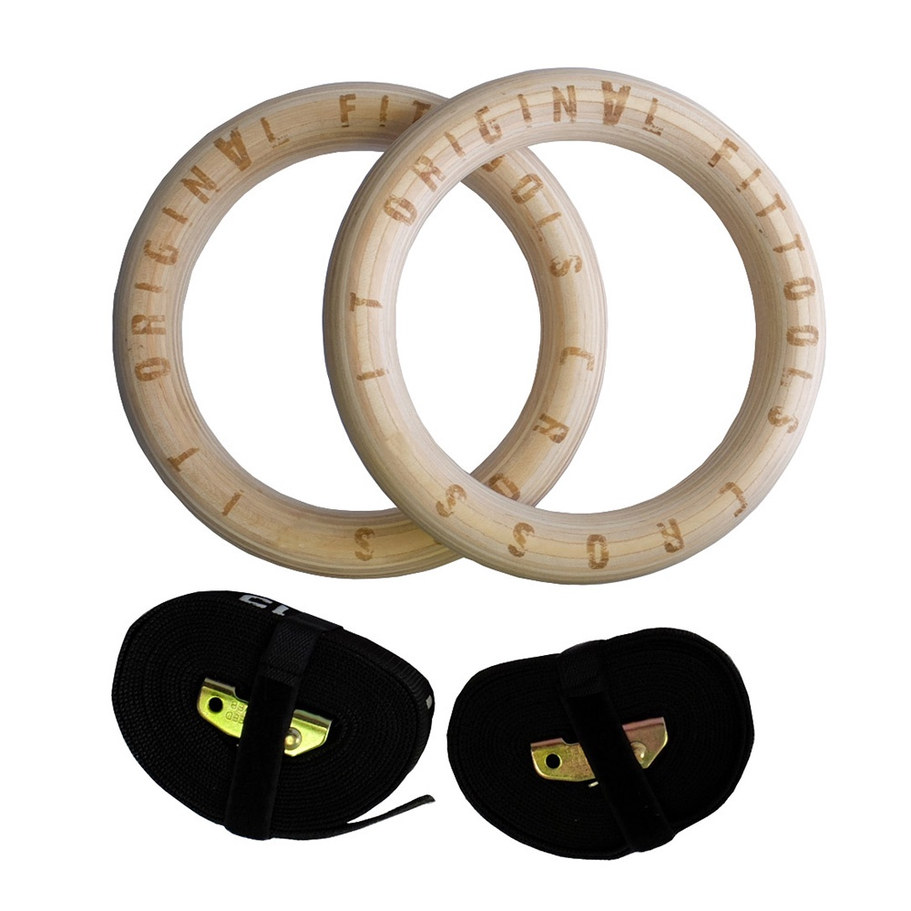 цена на Кольца гимнастические Original FitTools FT-CROSSRINGS, 23,5 см