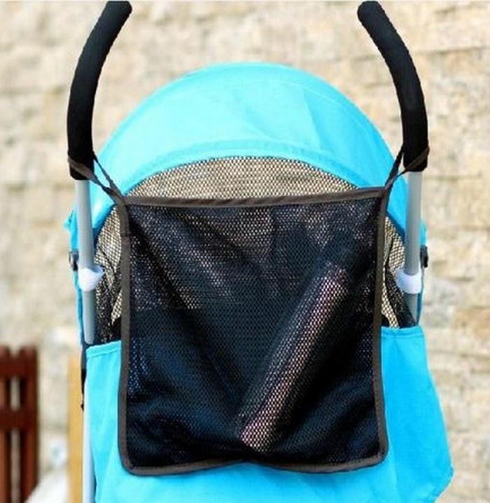 Аксессуар для колясок Мирти Сетка-карман для коляски, 30х30 черный недорого