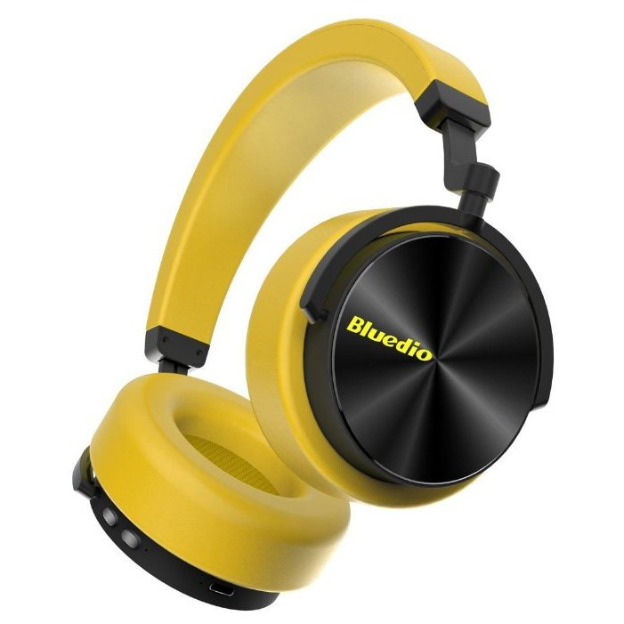 Беспроводные наушники Bluedio T5, желтый цена