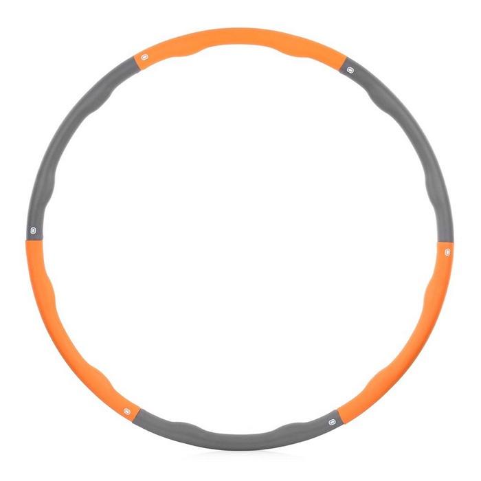 Обруч гимнастический HouseFit Обруч утяжеленный, серый, оранжевый housefit hs 5022