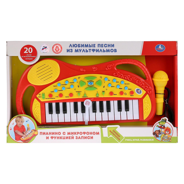 Детский музыкальный инструмент Умка Обучающее пианино, 259665 детский музыкальный инструмент умка обучающее пианино стихи м дружининой b1338657 r1