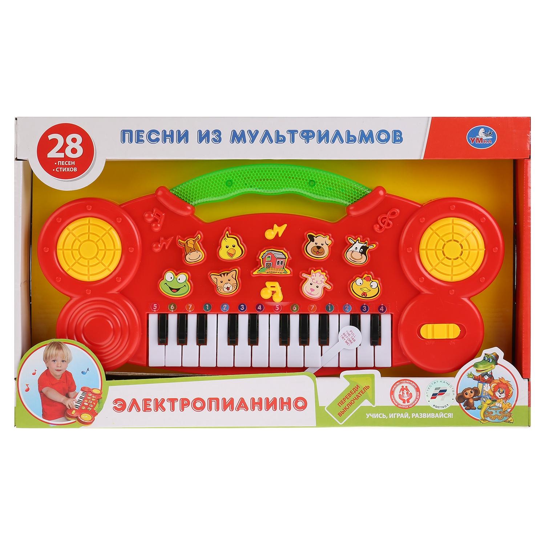 Электропианино на батарейках Умка, 259666 детский музыкальный инструмент умка обучающее пианино стихи м дружининой b1338657 r1